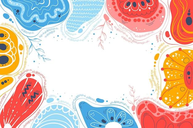 Fond de formes abstraites plates dessinées à la main