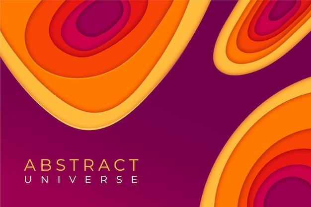 Fond de formes abstraites de style papier coloré
