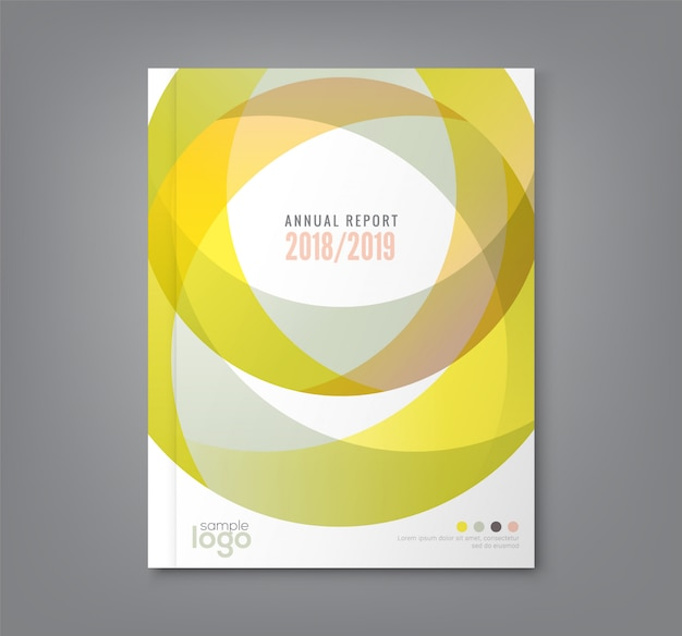 Fond de formes de cercle pour la couverture du livre de rapport annuel