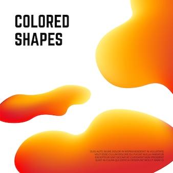 Fond de formes colorées modernes. éléments fluides abstraits, modèle d'affiche vectorielle d'art contemporain. bannière futuriste de composition d'illustration à la présentation