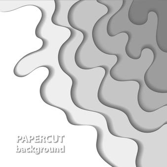 Fond avec des formes découpées en papier blanc