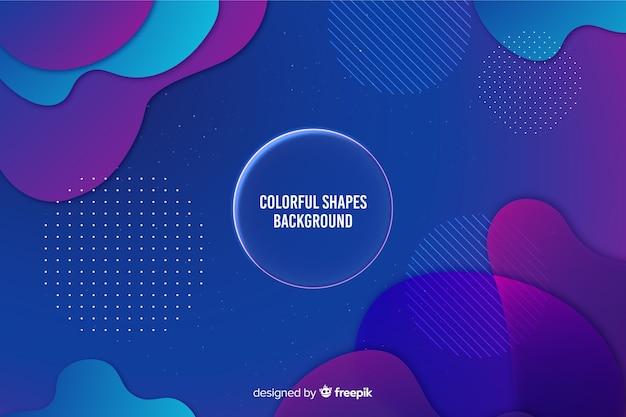 Fond de formes dégradé coloré