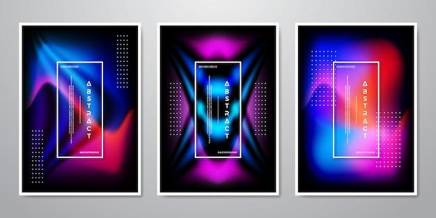 Fond de formes dégradé tendance abstraite.