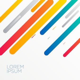 Fond de formes diagonales modernes colorées