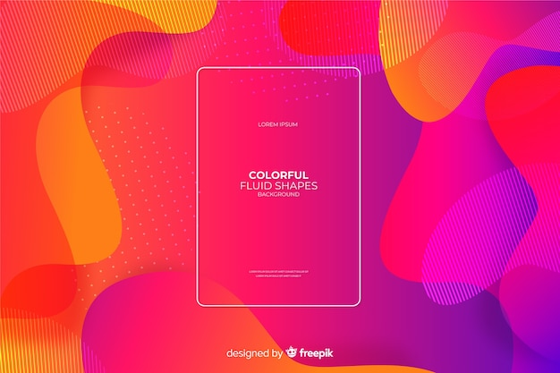 Fond de formes fluides colorées
