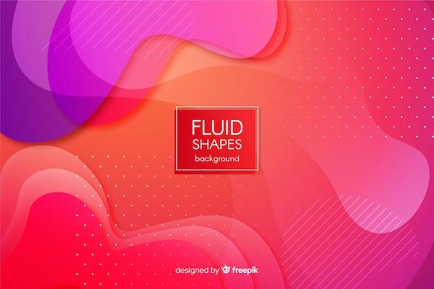 Fond de formes fluides dégradé coloré