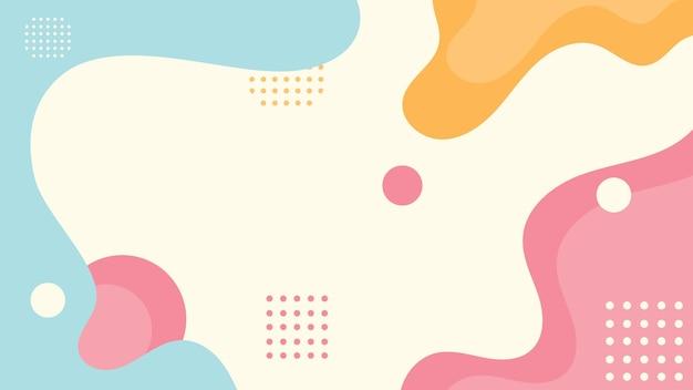 Fond de formes fluides plat abstrait memphis
