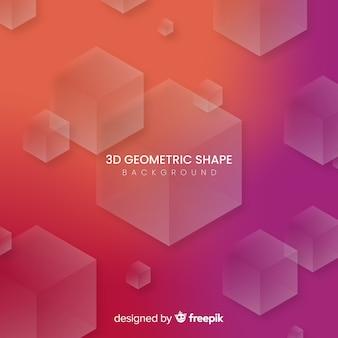 Fond de formes géométriques 3d