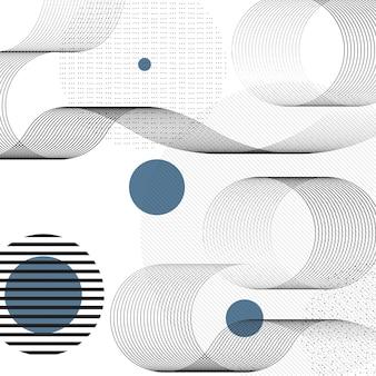 Fond de formes géométriques abstraites.