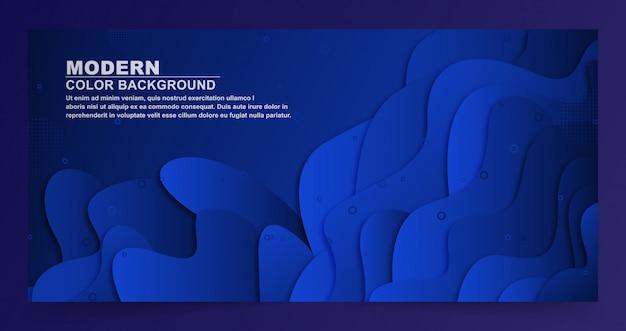 Fond de formes géométriques bleu foncé