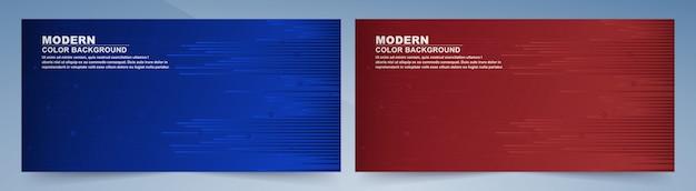 Fond de formes géométriques bleu et rouge foncé