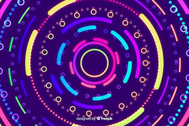 Fond de formes géométriques colorées au néon