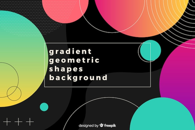 Fond de formes géométriques colorées