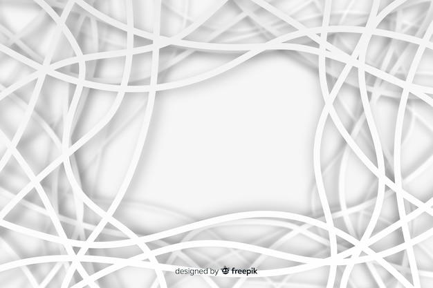 Fond avec des formes géométriques dans le style de papier