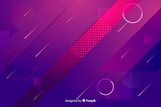 Fond de formes géométriques dégradé coloré