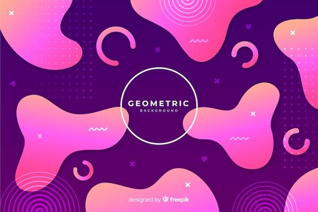 Fond de formes géométriques dégradées
