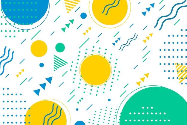 Fond De Formes Géométriques Design Plat Dans Le Style De Memphis Vecteur gratuit