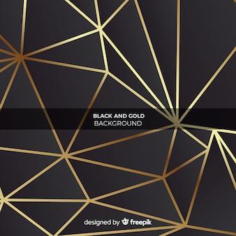 Fond de formes géométriques dorées