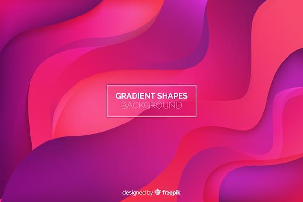 Fond de formes géométriques fluides