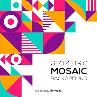 Fond de formes géométriques plat coloré