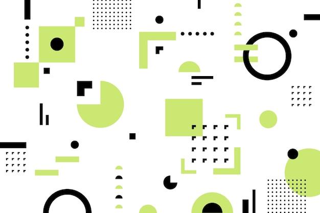 Fond de formes géométriques plates