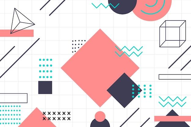 Fond de formes géométriques plats