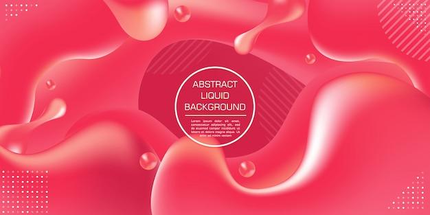 Fond de formes liquides abstrait dégradé dynamique couleur rouge