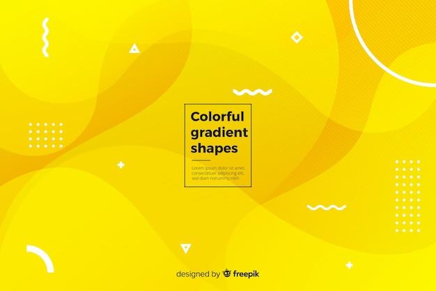 Fond de formes liquides colorés