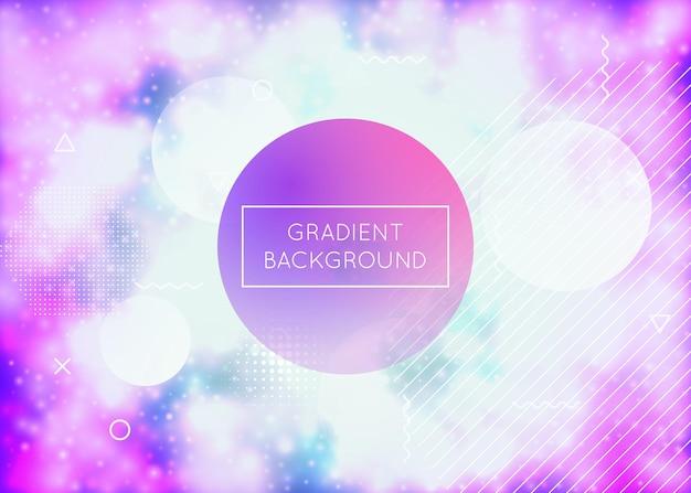 Fond de formes liquides avec fluide dynamique. dégradé néon bauhaus avec couvercle lumineux violet. modèle graphique pour livre, interface annuelle, mobile, application web. fond de formes liquides vibrantes.
