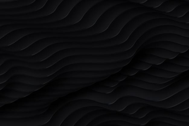 Fond de formes ondulées noires
