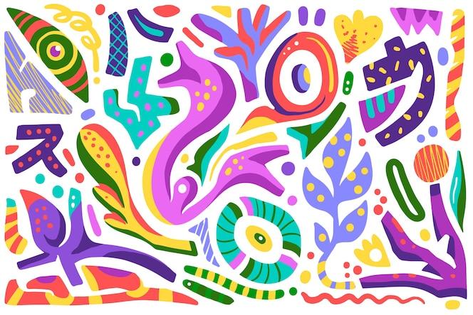 Fond de formes organiques abstraites colorées