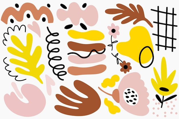 Fond de formes organiques abstraites dessinées à la main
