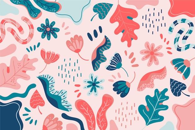 Fond de formes organiques colorées