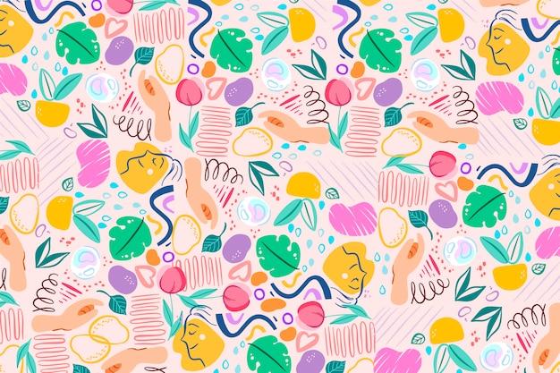 Fond de formes organiques dessinés à la main