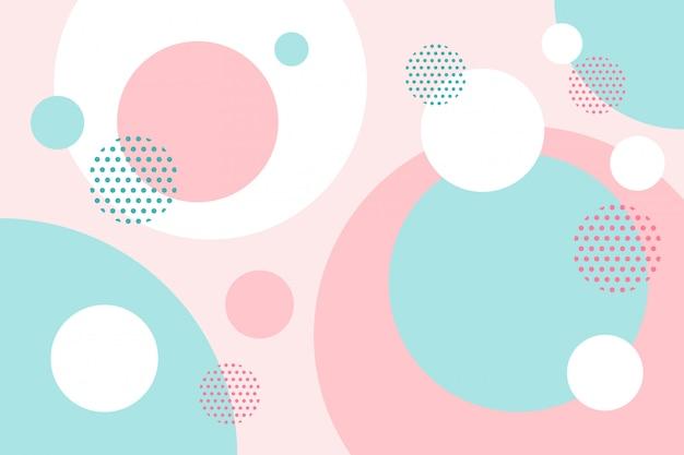 Fond de formes plates circulaires colorées