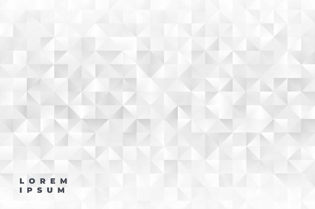 Fond de formes triangle blanc élégant