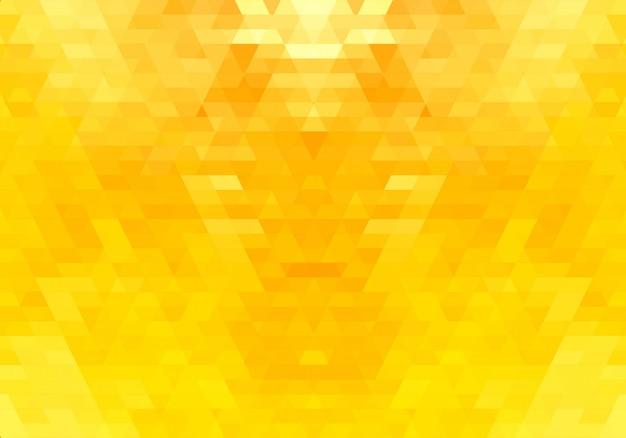 Fond de formes de triangle jaune abstrait