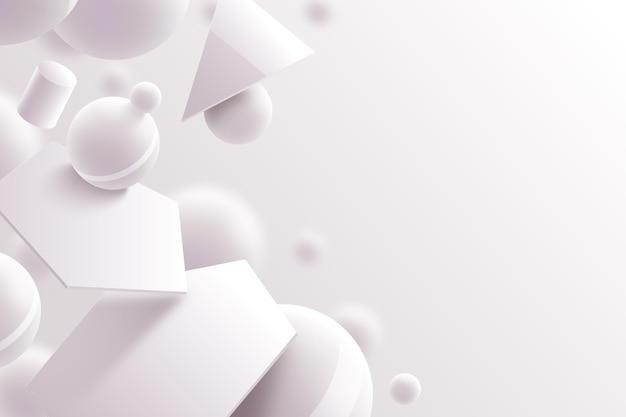 Fond de formes tridimensionnelles modernes