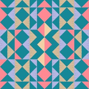 Fond de foulard sans couture triangle memphis
