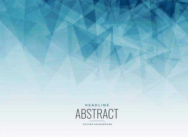 Fond fractal abstrait triangles bleus