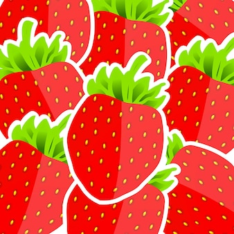 Fond de fraises. illustration vectorielle. eps 10.