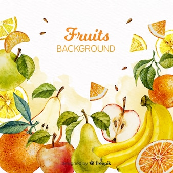 Fond de fruits aquarelle