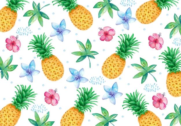 Fond de fruits aquarelle