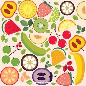 Fond de fruits colorés