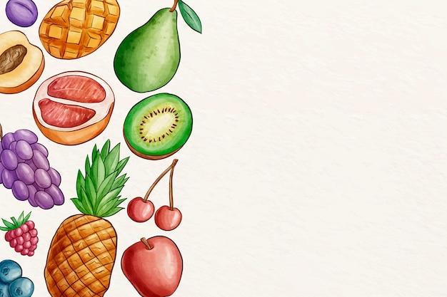 Fond de fruits et légumes avec espace copie