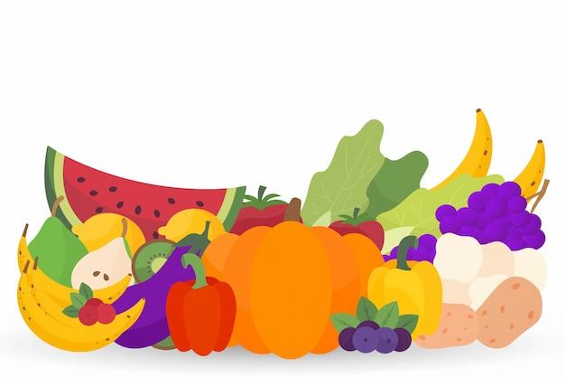 Fond de fruits et légumes