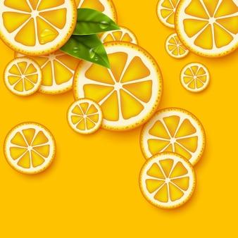 Fond de fruits orange.