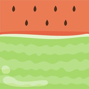 Fond de fruits pastèque