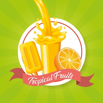 Fond de fruits tropicaux