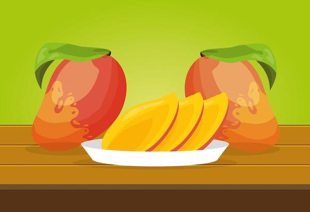 Fond de fruits tropicaux